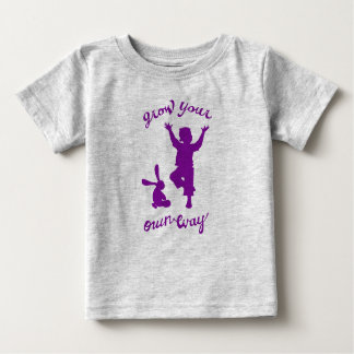 Camiseta Para Bebê Cresça sua própria ioga criativa do ~ da maneira