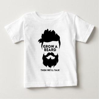 Camiseta Para Bebê Cresça uma barba então que nós falaremos