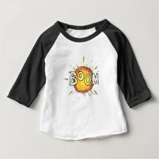 Camiseta Para Bebê Crescimento da explosão dos desenhos animados