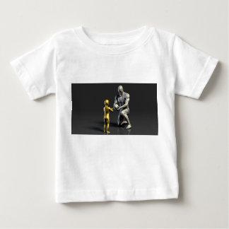 Camiseta Para Bebê Criança de ensino do pai como um conceito em 3D