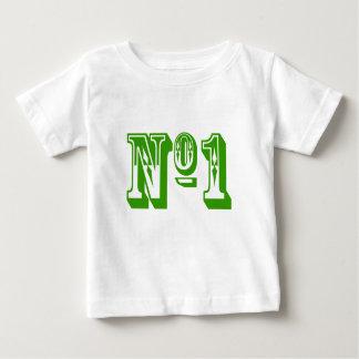 Camiseta Para Bebê Criança do número um