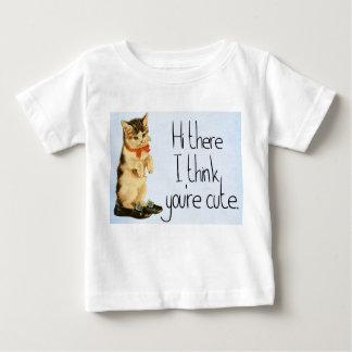 """Camiseta Para Bebê Criança """"olá! lá, eu penso que você é"""" t-shirt"""
