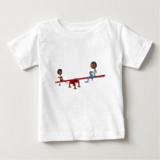 Camiseta Para Bebê Crianças do afro-americano dos desenhos animados