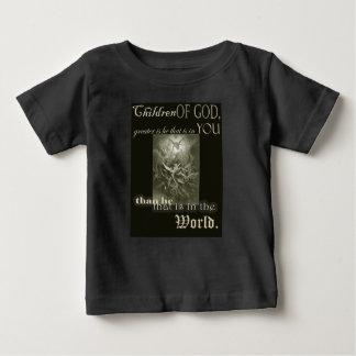 Camiseta Para Bebê Crianças do t-shirt do deus