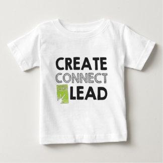 Camiseta Para Bebê Criar conectam a ligação (a luz)