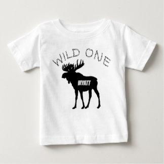 Camiseta Para Bebê Criaturas selvagens de uma floresta dos alces do