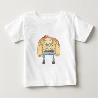 Camiseta Para Bebê Criminoso perigoso estilo esboçado Tattooed da