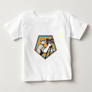 Camiseta Para Bebê Crista da câmera do filme de filme do vintage do