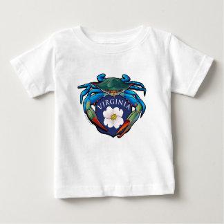 Camiseta Para Bebê Crista da flor do Dogwood de Virgínia do