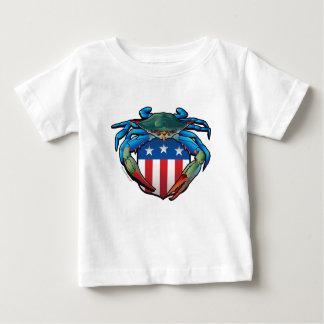 Camiseta Para Bebê Crista dos EUA do caranguejo azul