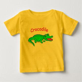 Camiseta Para Bebê Crocodilo bonito dos desenhos animados