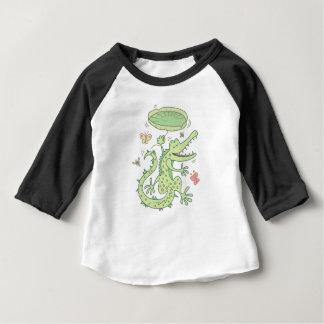 Camiseta Para Bebê Crocodilo feliz