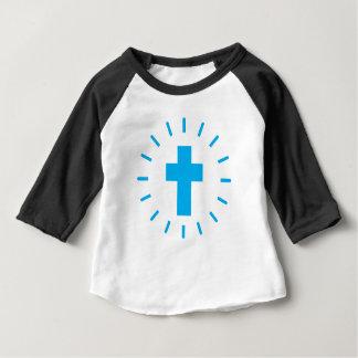 Camiseta Para Bebê Cruz do Jesus Cristo