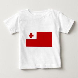 Camiseta Para Bebê Cruz vermelha da bandeira da ilha de Tonga