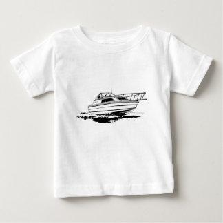 Camiseta Para Bebê Cruzador do barco da velocidade
