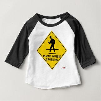 Camiseta Para Bebê Cruzamento do zombi do telefone