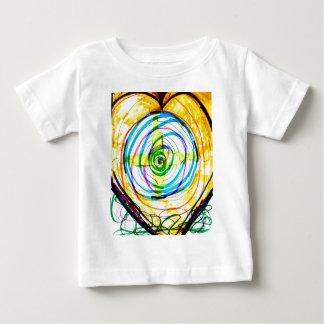 Camiseta Para Bebê Cruzes de Cartoids do Fractal e a banda espiral
