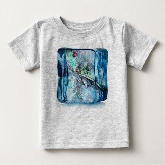 Camiseta Para Bebê Cubo da borboleta