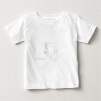 Camiseta Para Bebê cubo da tartaruga de caixa que tira Eliana