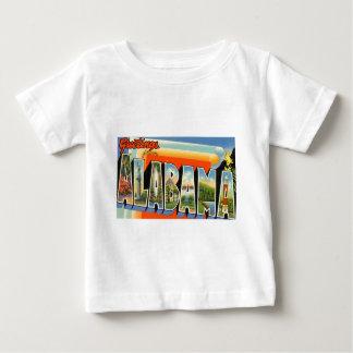 Camiseta Para Bebê Cumprimentos de Alabama