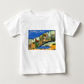 Camiseta Para Bebê Cumprimentos de Indiana
