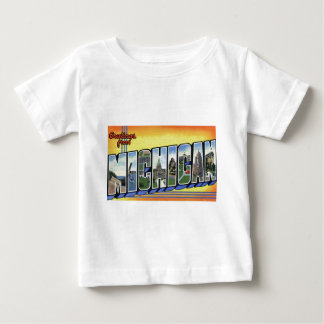 Camiseta Para Bebê Cumprimentos de Michigan