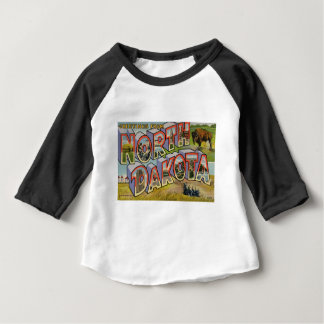 Camiseta Para Bebê Cumprimentos de North Dakota