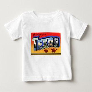 Camiseta Para Bebê Cumprimentos de Texas