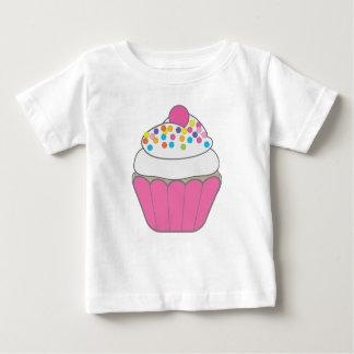 Camiseta Para Bebê Cupcake cor-de-rosa
