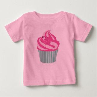 Camiseta Para Bebê Cupcake cor-de-rosa bonito