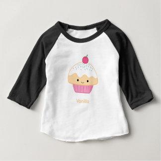 Camiseta Para Bebê Cupcake, sabor da baunilha