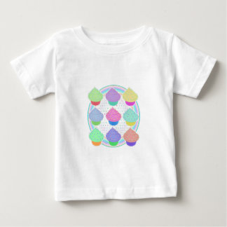 Camiseta Para Bebê Cupcakes