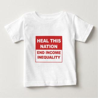 Camiseta Para Bebê Cure esta nação - desigualdade da renda do fim