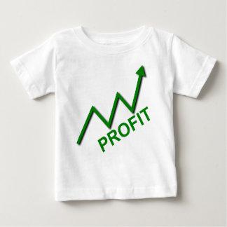 Camiseta Para Bebê Curva do lucro