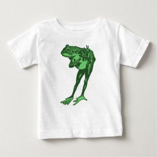Camiseta Para Bebê Curvatura do sapo verde