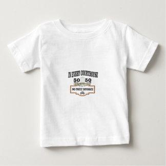 Camiseta Para Bebê custódia 50 50 em cada tribunal