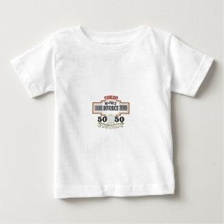 Camiseta Para Bebê custódia 50 50 no casamento