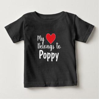Camiseta Para Bebê CUSTOMIZÁVEL meu coração pertence-lhe
