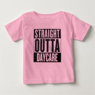 Camiseta Para Bebê Da guarda reta do Outta da menina T engraçado