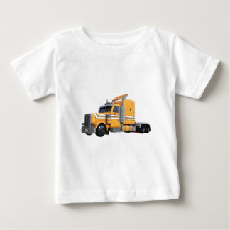 Camiseta Para Bebê Da laranja reboque de tractor semi