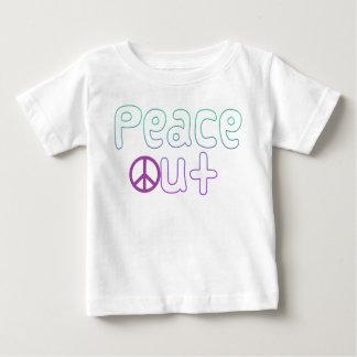 Camiseta Para Bebê Da paz letras para fora