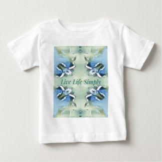 Camiseta Para Bebê 'Da vida estilo de vida vivo pairoso claro