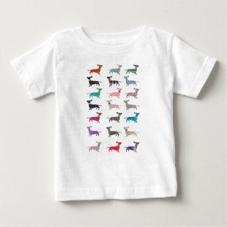 Camiseta Para Bebê Dachshund colorido!