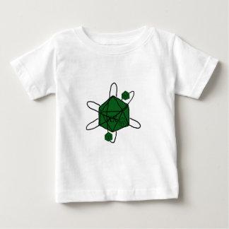 Camiseta Para Bebê Dado-Átomo (preto, verde)