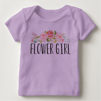Camiseta Para Bebê Dama de honra do T   do bebê do florista
