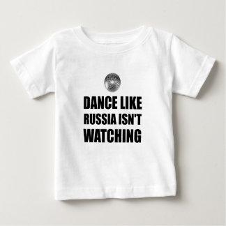 Camiseta Para Bebê Dança como Rússia que não olha