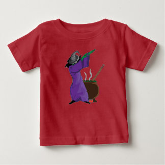 Camiseta Para Bebê dança de toque ligeiro da solha do Dia das Bruxas