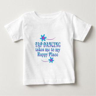 Camiseta Para Bebê Dança de torneira meu lugar feliz