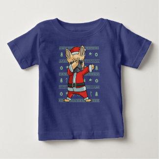 Camiseta Para Bebê Dança francesa de toque ligeiro da solha do Natal
