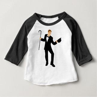 Camiseta Para Bebê Dançarino com bastão